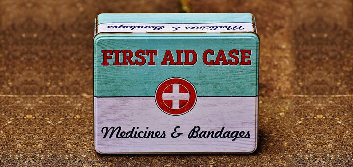 What should be in the first aid box?