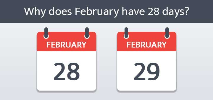 Why are there only 28 days in the month of February? फरवरी महीने में केवल 28 दिन क्यों होते हैं?